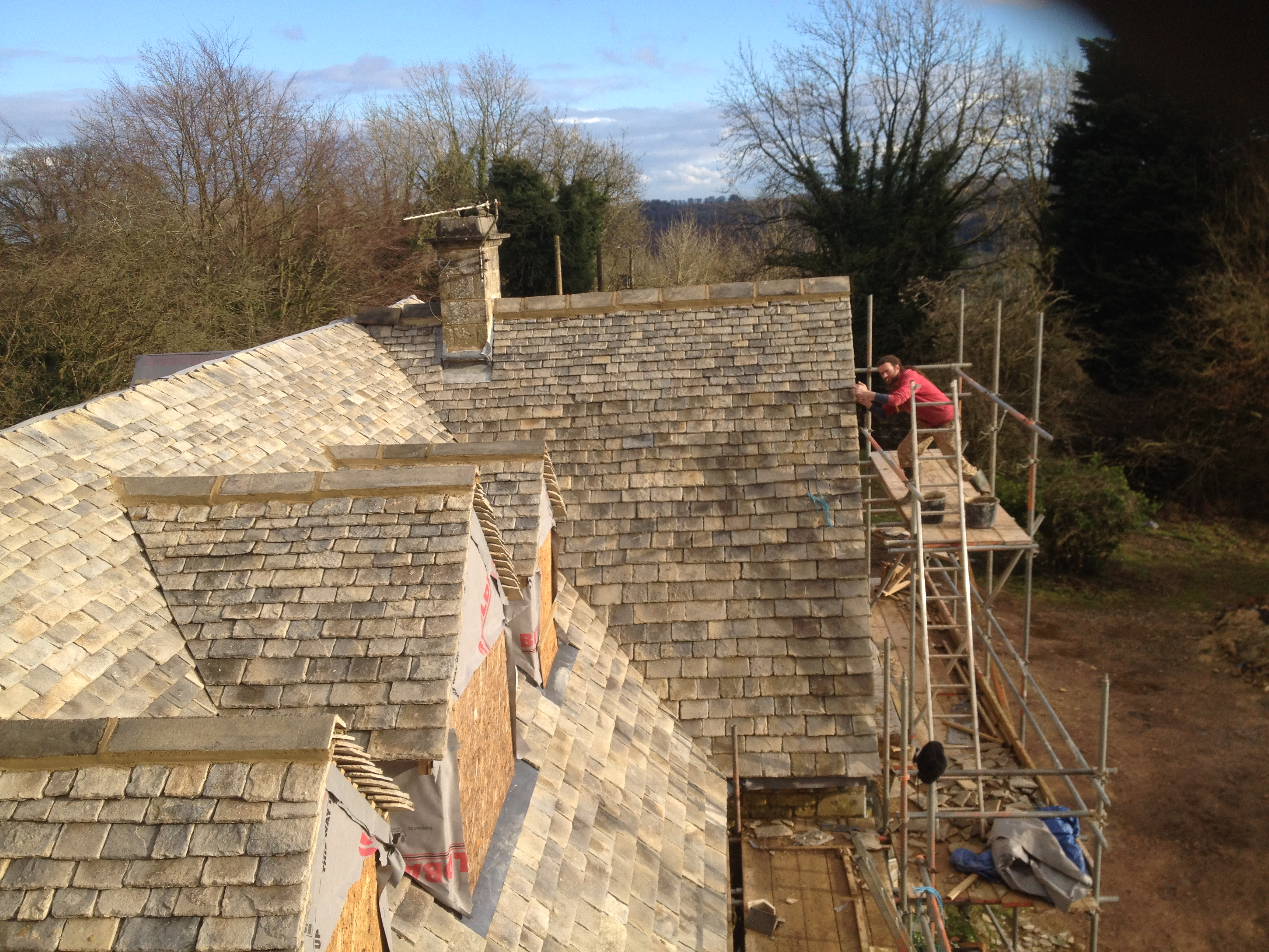 cotswold stone tiles in Uley